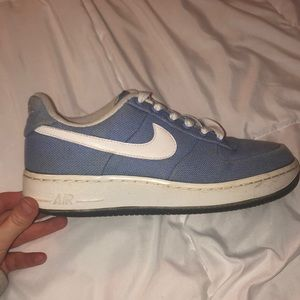 Denim Blue Nike Air Force 1s - size 8